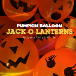 Pumpkin Balloon Jack-o-lanterns with upcycled toilet paper rolls
