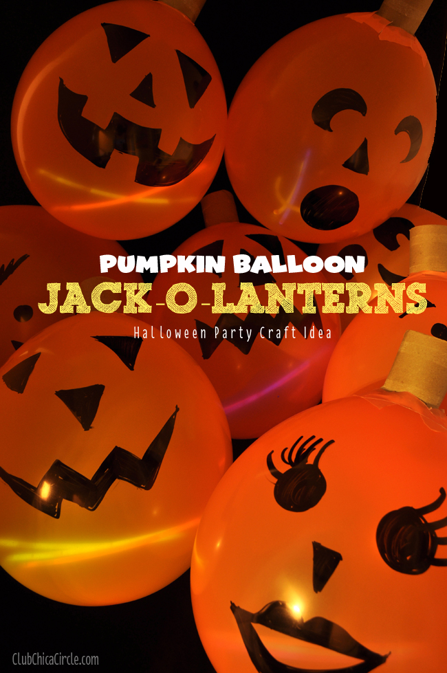halloween craft idea pumpkin balloon o lanterns craft idea 2131