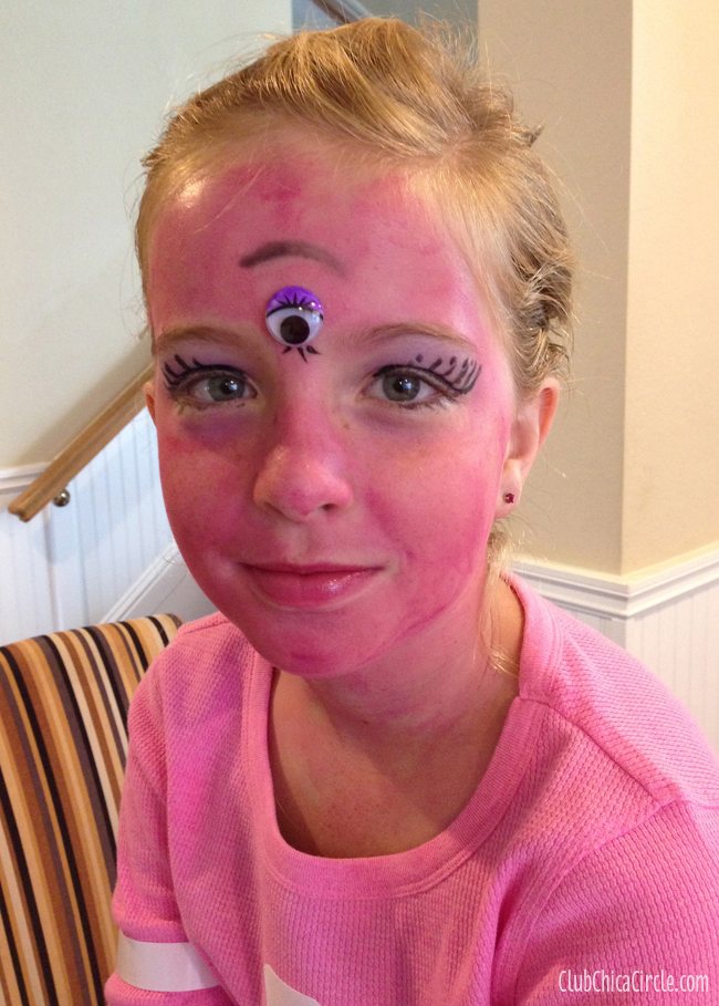 Tulip face paint for homemade Monsters U costume