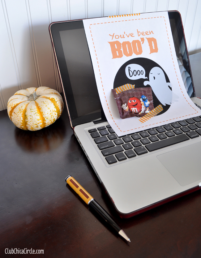 You've Been Boo'd Desk free Printable