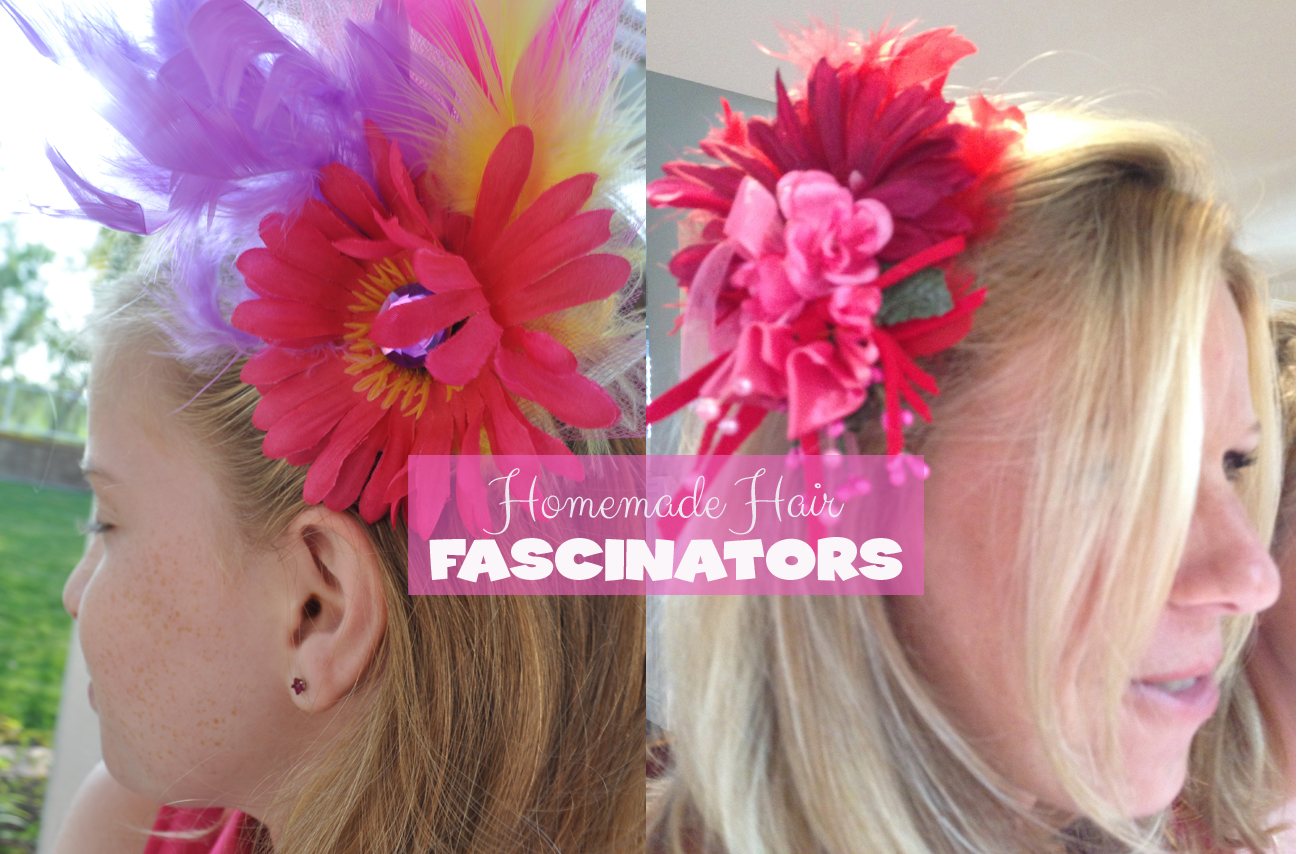 homemade Flower hair fascinators