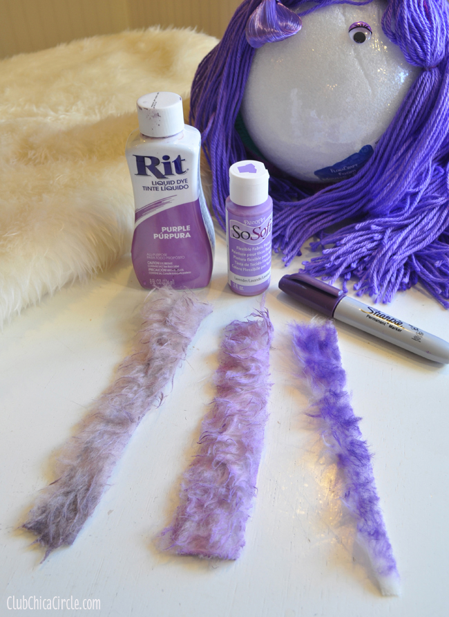 how to dye monster fur tests
