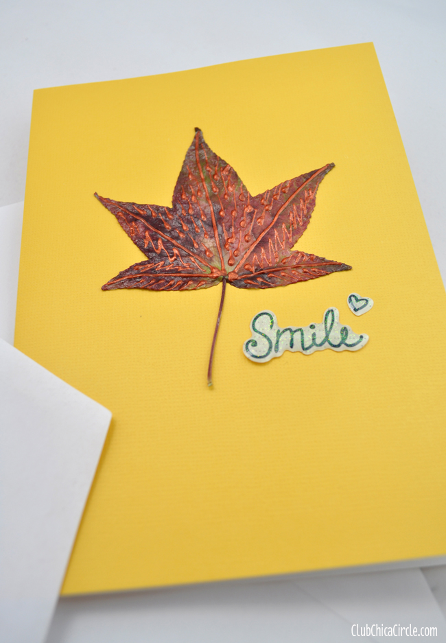 Fall Leaf Note Cards Nature craft idea