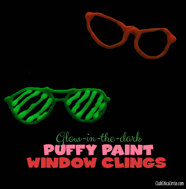 Glow in the dark window clings