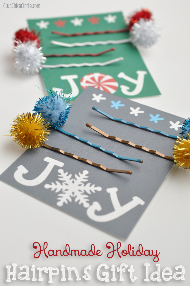 514143ed8 Homemade Holiday Hairpins Gift Idea – Holiday Craft Lightning