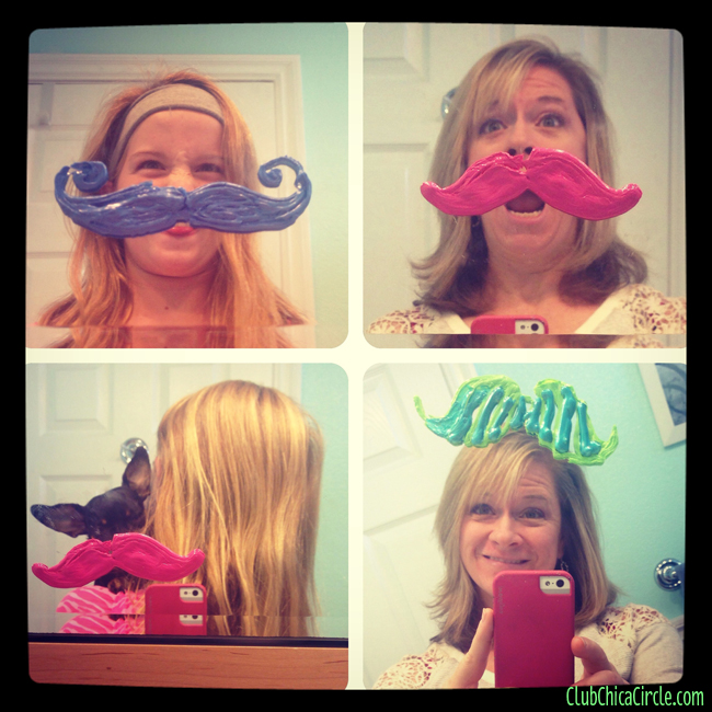 Movember mustache window cling fun @clubchicacircle