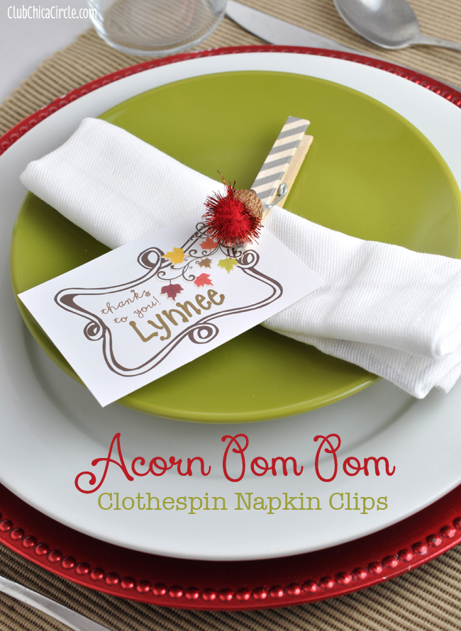 Thanksgiving napkin ring craft idea