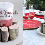 Wood Branch Candle Craft Table Centerpiece