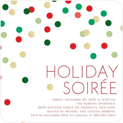 holiday soiree invite