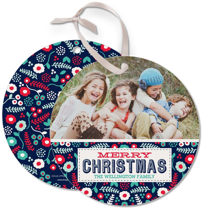 lush christmas ornament card