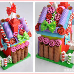 Painted Pasta Gingerbread Holiday Birdhouses Tween Craft Idea @clubchicacircle