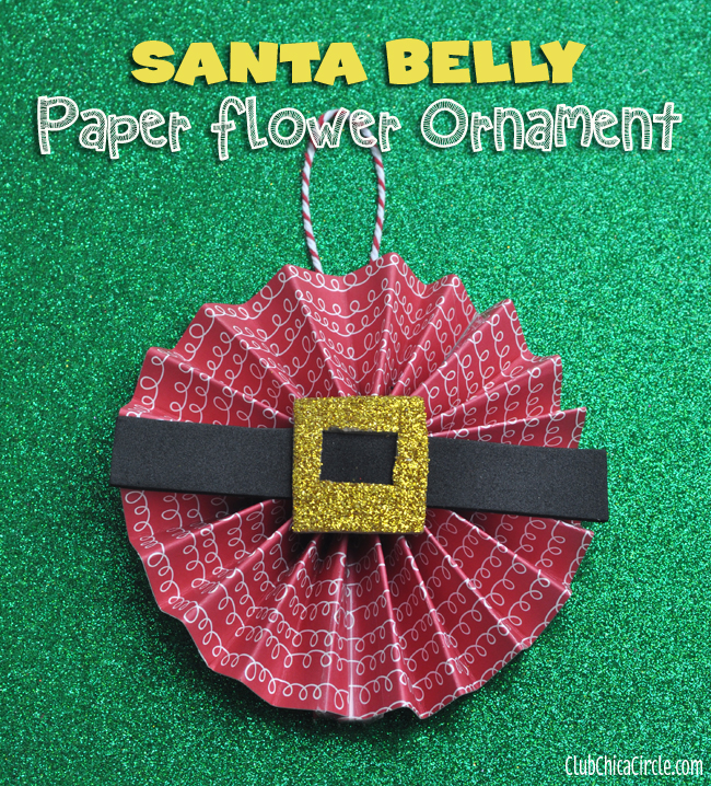 Santa Belly Paper Flower Holiday Craft Idea