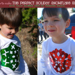 Tulip Fashion Glitter Iron on Snowflake Shirt Family Craft Idea @clubchicacircle