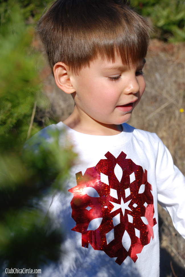 Tulip Shimmer Snowflake Tee Shirt Holiday Craft
