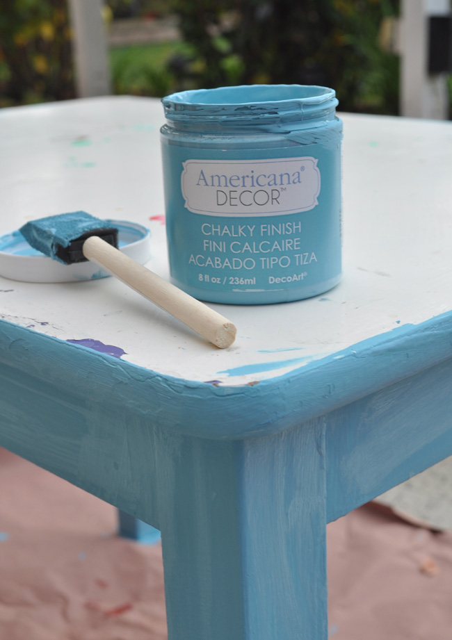 Americana Decor Chalky Finish Paint for Play table