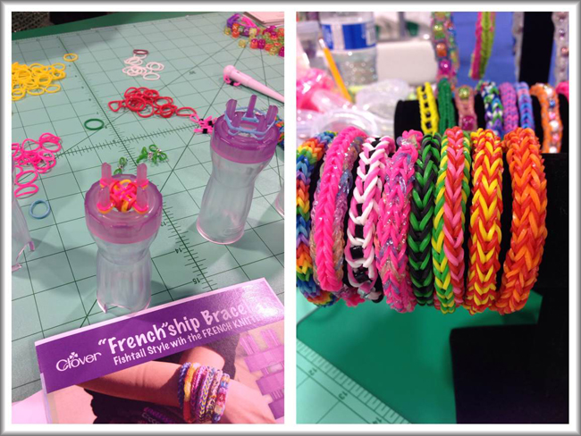 Clover loom bands @CHA2014