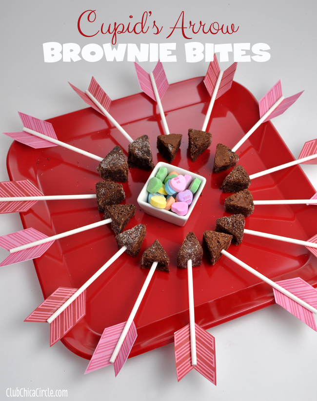 Cupids Arrow Brownie Bites Party Tray