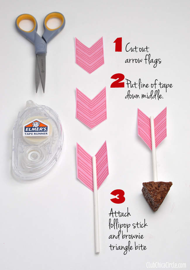 Cupids Arrow Brownie Bites Valentines Day Party Idea