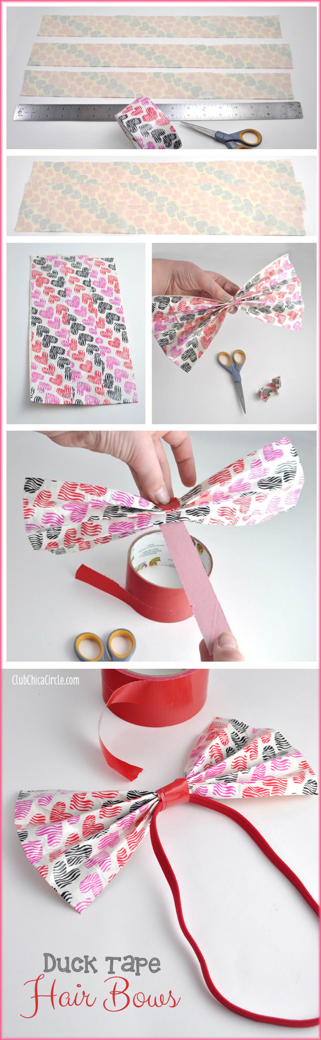 Duck Tape Hair Bows Tutorial