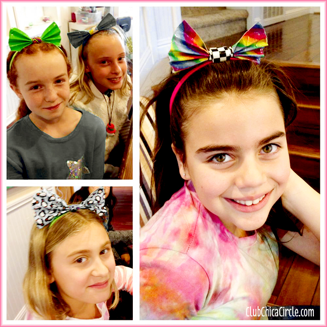 Duct Tape Hair Bows for Tweens @clubchicacircle