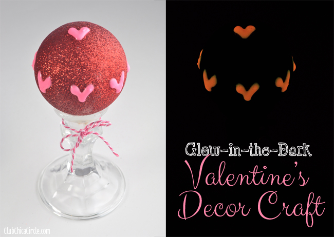 Glow in the Dark Valentine's Craft