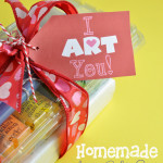 I ART You Free Printable gift tag with homemade art set