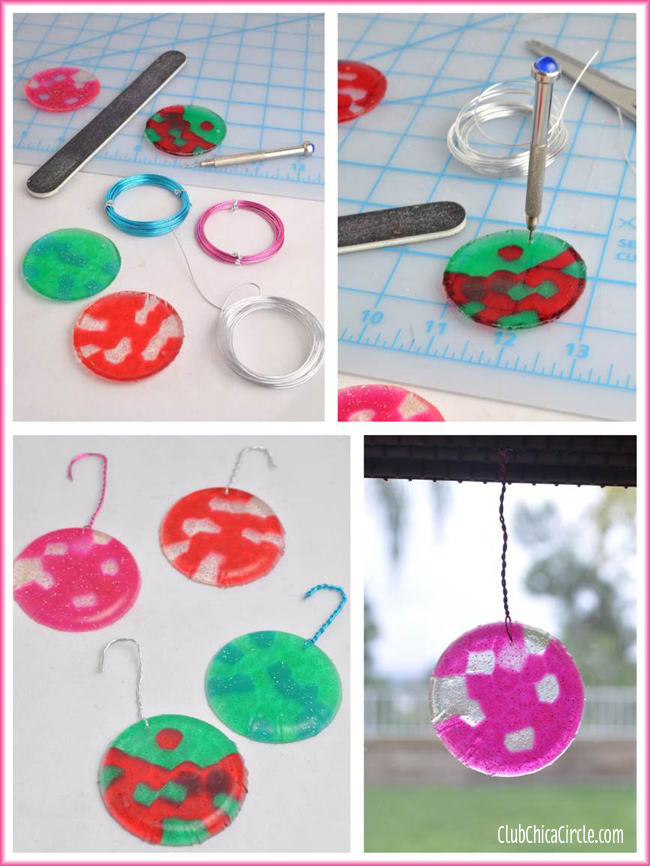 Melted BBQ bead ornaments craft idea copy