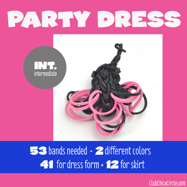 Rainbow Loom Party Ballet Dress Charm chart