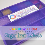 Rainbow Loom organizer free printable labels