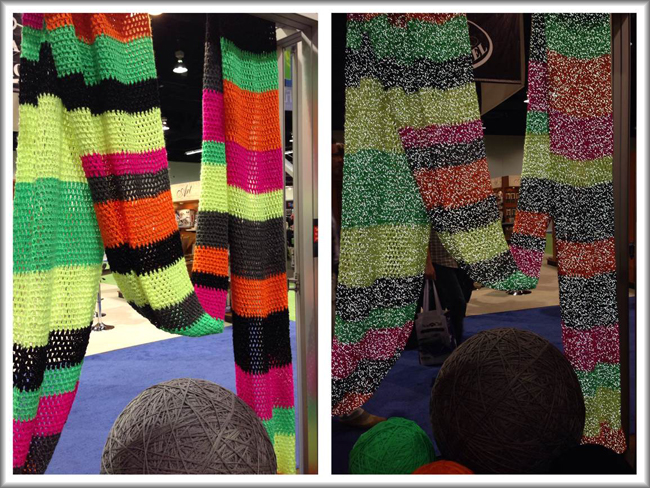 Reflective yarn from Coats&Clark @CHA2014