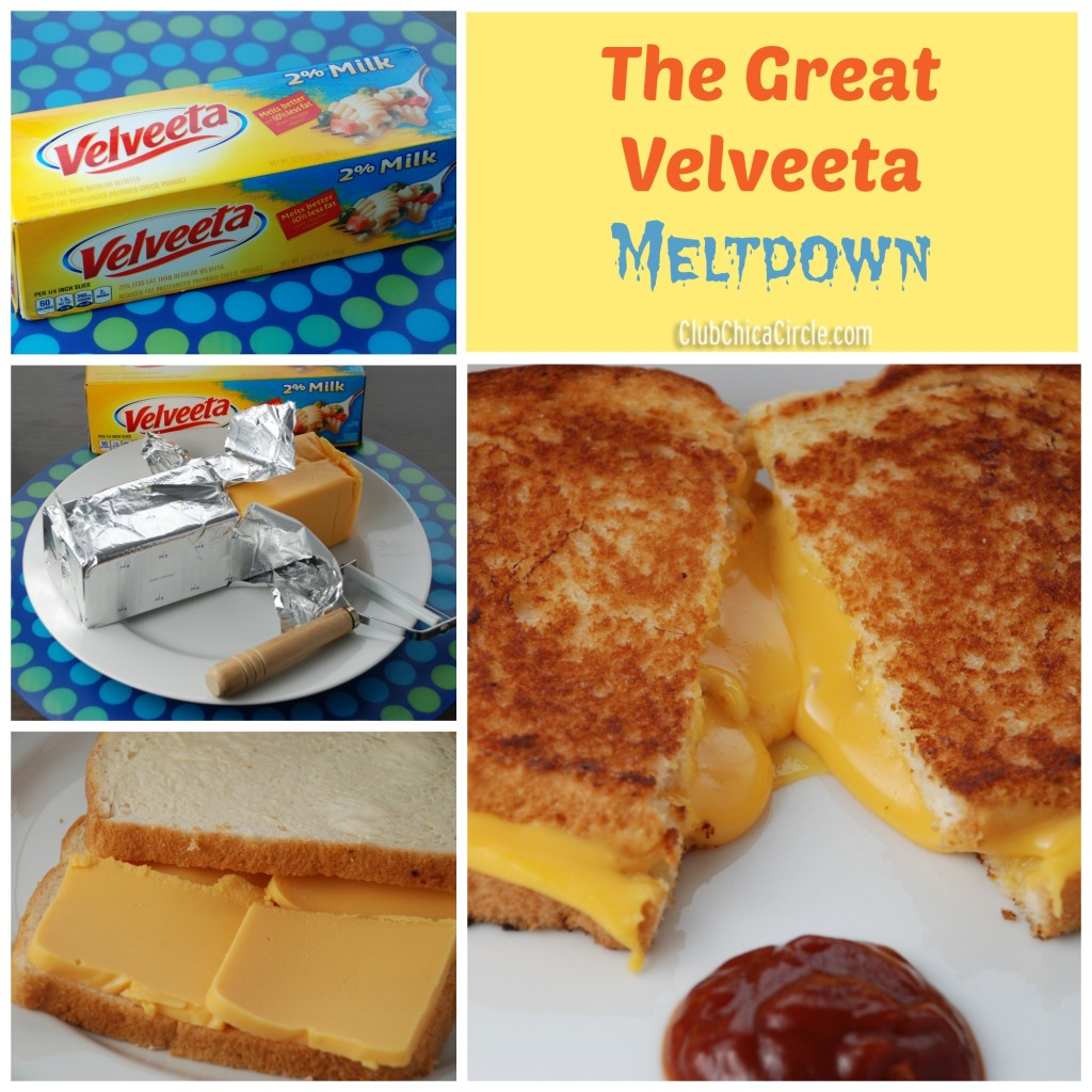 The Great Velveeta Meltdown - Perfectly Melty Grilled Cheese Sandwich