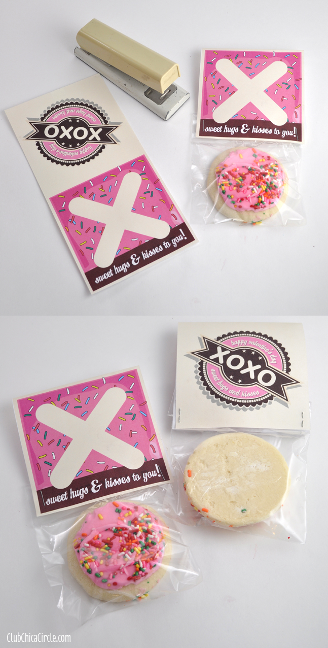 Valentines Cookies Classroom Treat with Free Printable