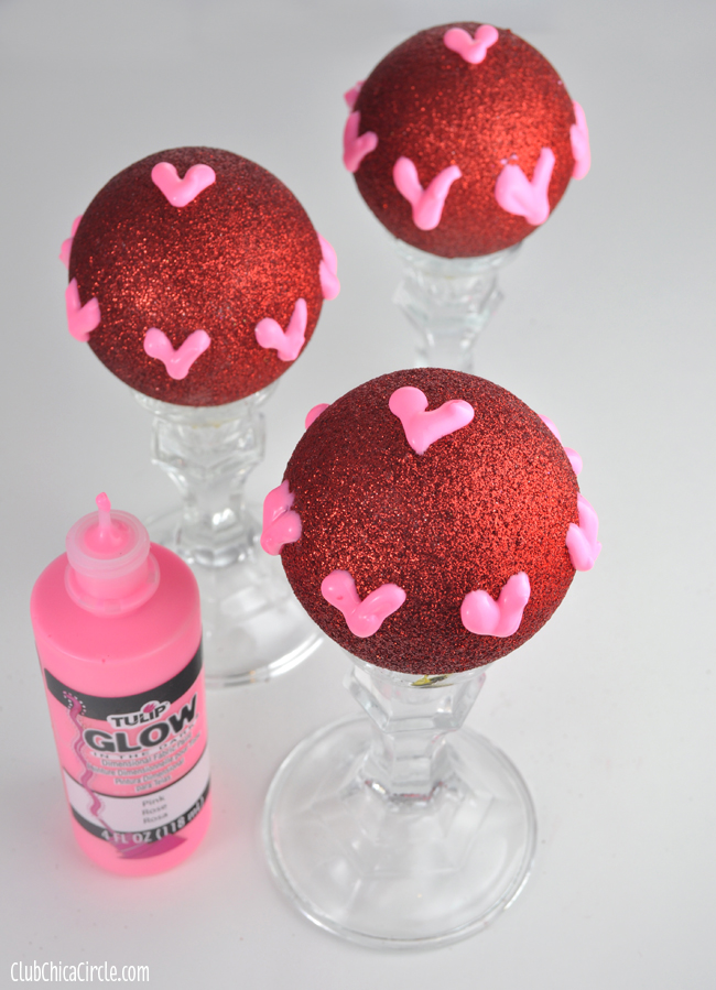 Valentine's Room Decor Craft with Glow in the Dark Hearts