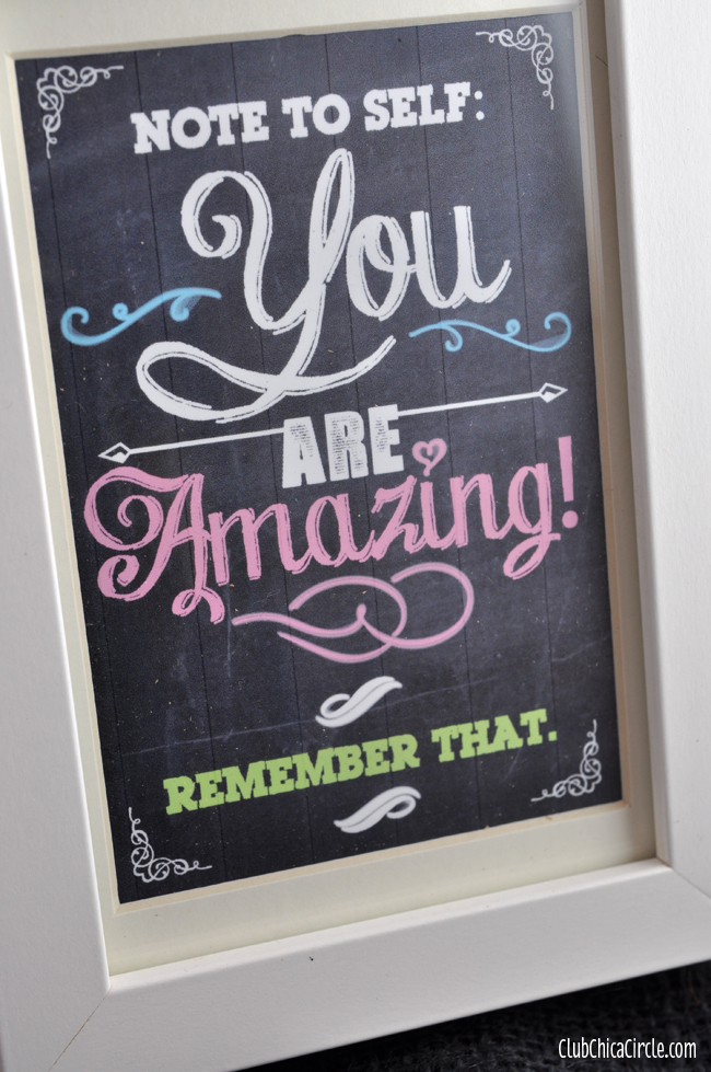 You are amazing framed printable