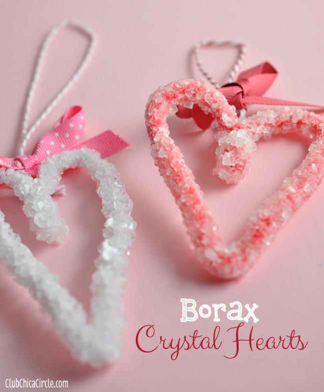borax crystal hearts tutorial