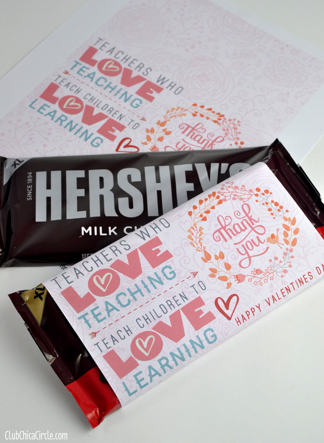 Free Valentines Big Candy Bar Printable Wrapper