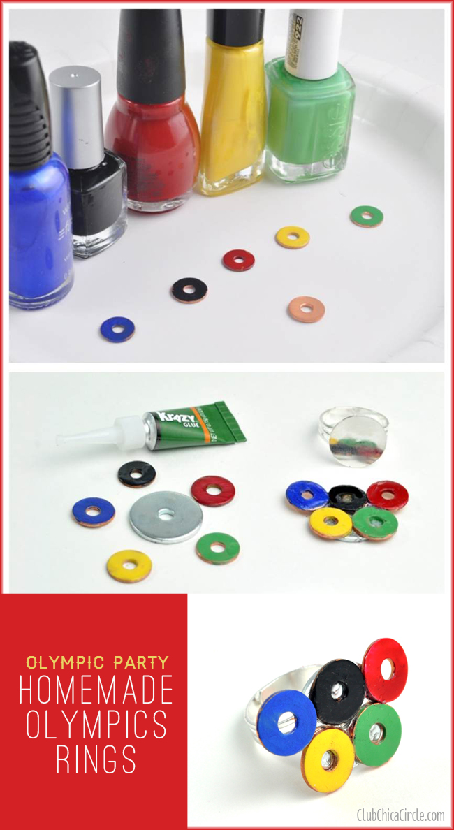 How to Make Olympic Rings Ring Party Craft and Gift Idea