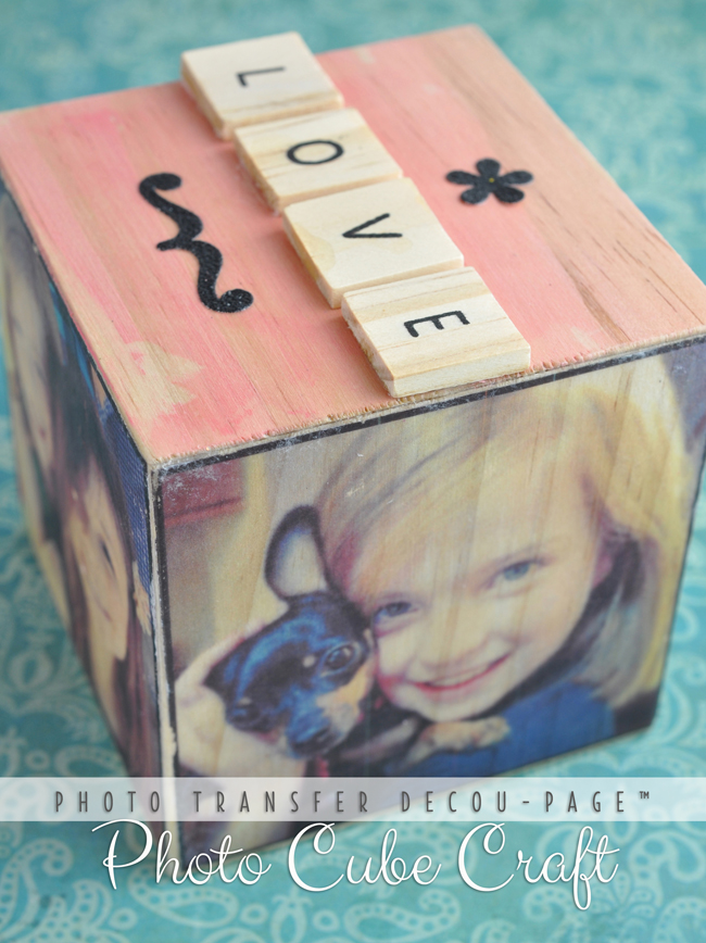 Instagram Photo Cube Craft Diy With Photo Transfer Decoupage