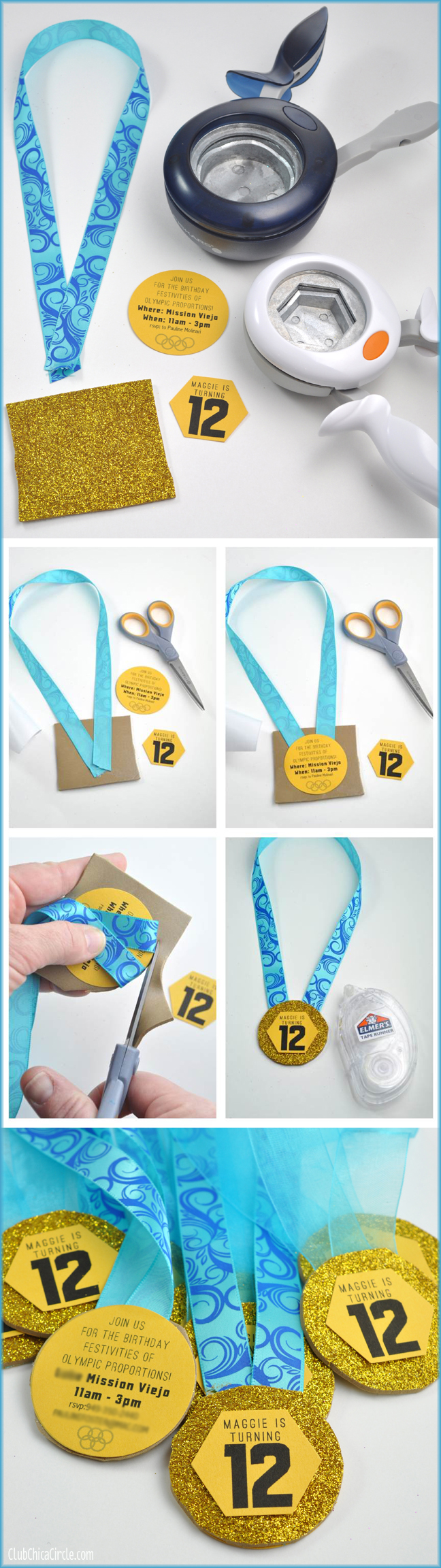 Olympic Medal Birthday Party Homemade invites