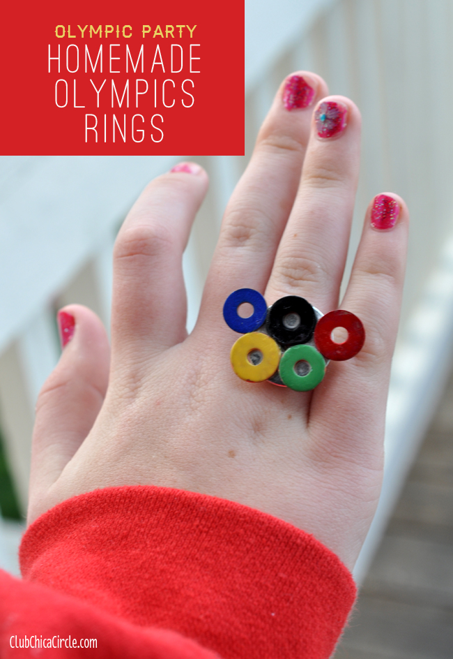 Homemade Olympic Rings Jewelry DIY for Kids