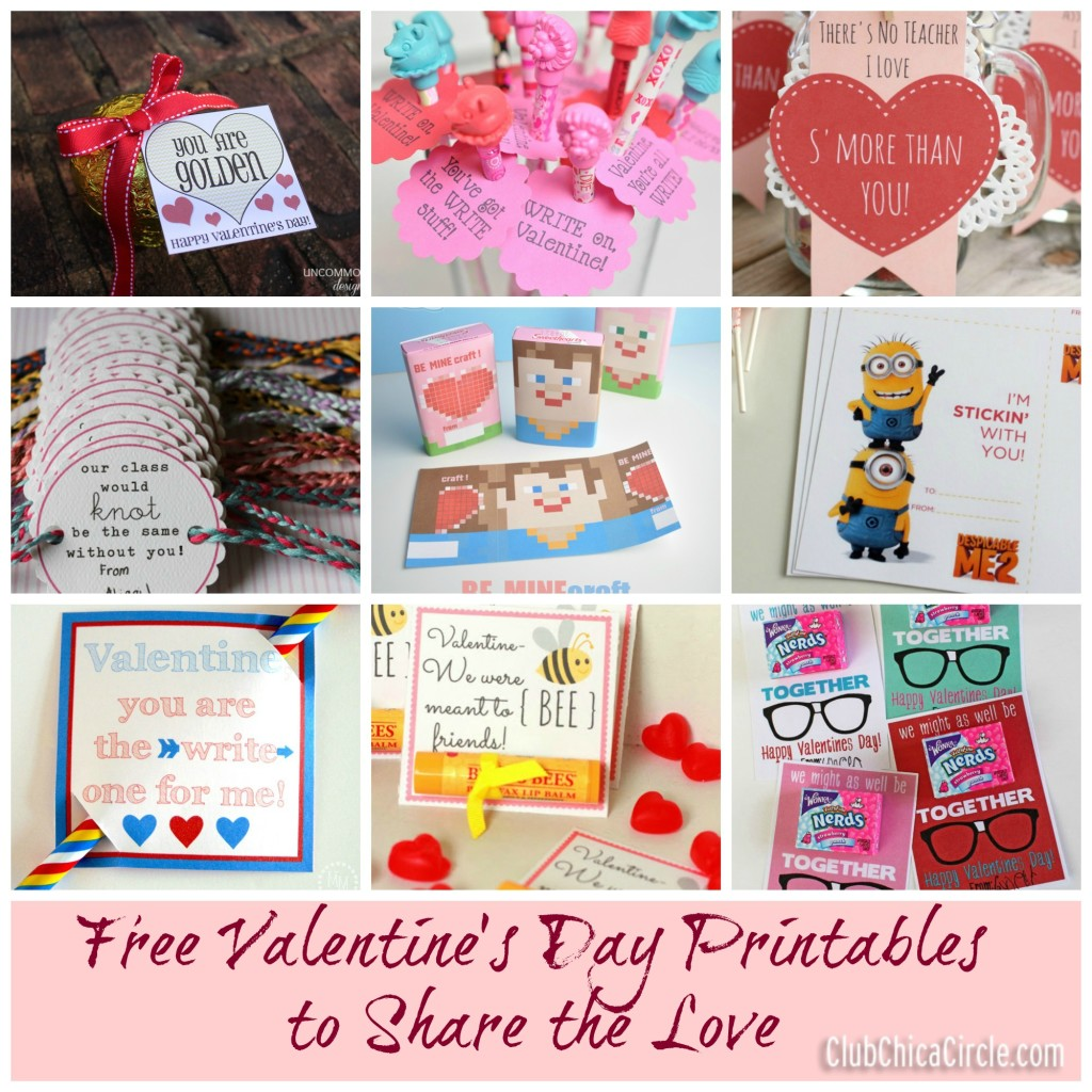 Valentine's Printables to Share the Love