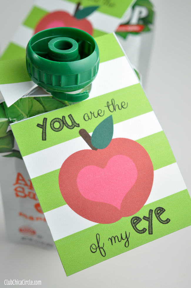 You are the Apple of My Eye Free Printable Tag