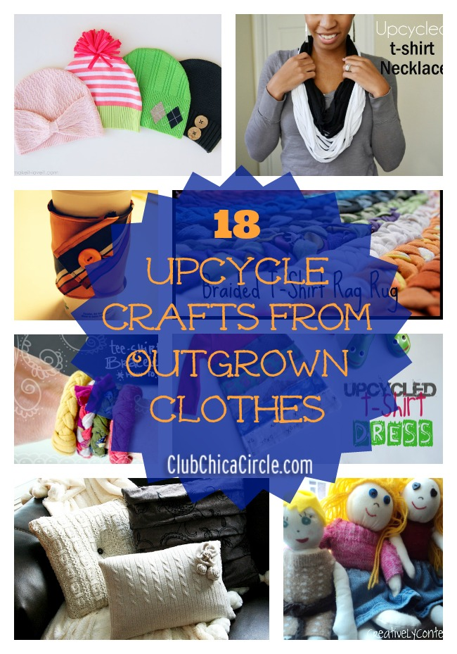 18 Upcycle Crafts from Outgrown Clothes