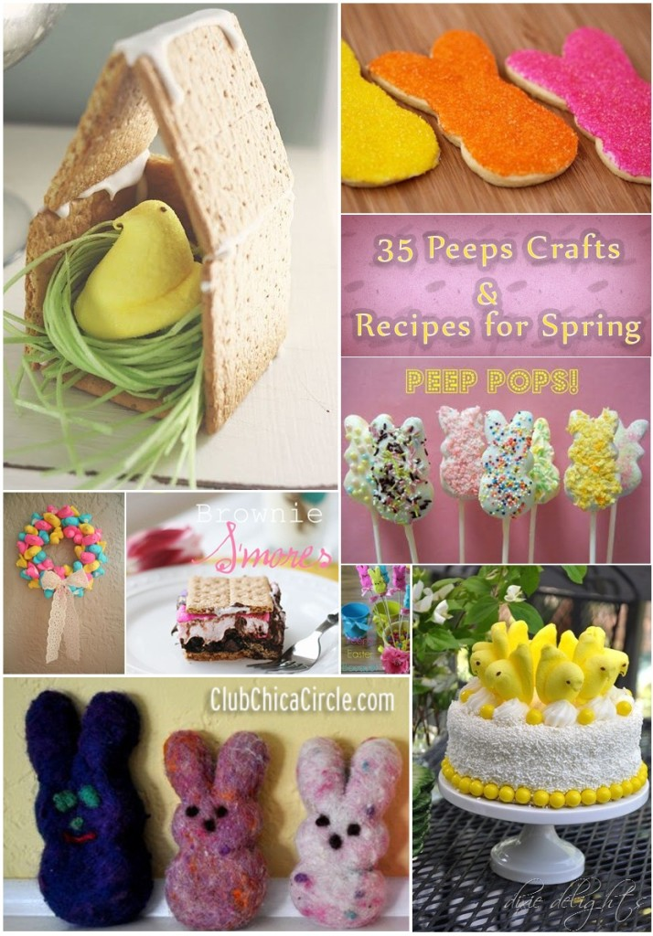 35 Peeps Crafts and Recipes for Spring- WooHoo! Yummy Fun!
