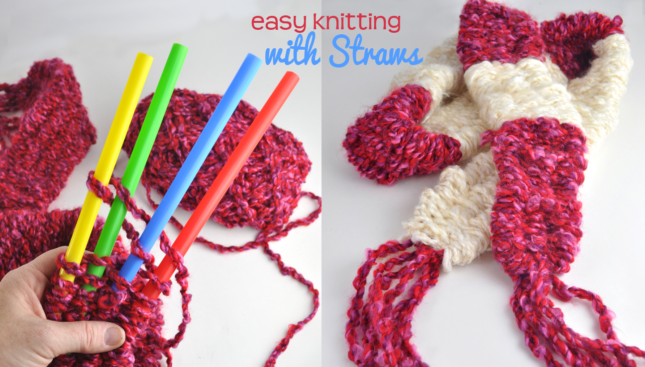 Easy Knitting with Big Straws DIY for kids