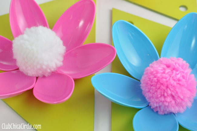 craft ideas making flowers easy flower plastic spoon garland craft idea and 3924