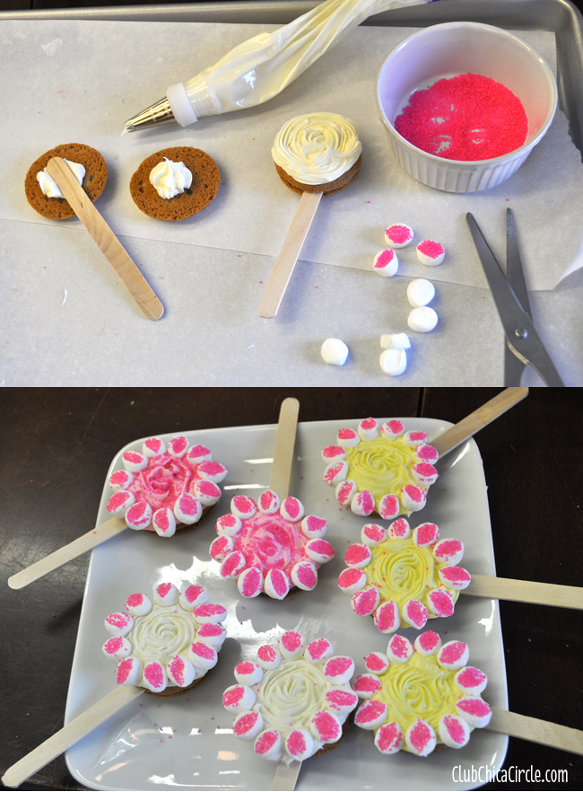 How to make cookie spring flowers