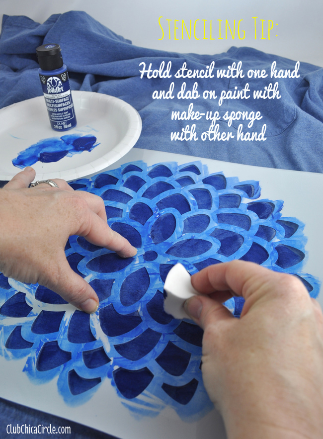 How to stencil with paint and makeup sponge