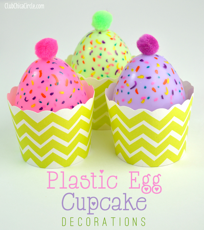 Easy plastic egg cupcake candle decorations and treat cups for Cute cupcake decorating ideas for easter