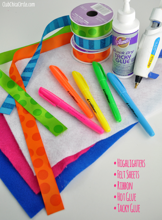Teacher Appreciation Highlighter Roll supplies